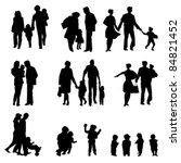 outdoor walking family... | Shutterstock .eps vector #84821452