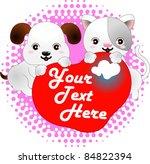 Stock vector dog cat 84822394