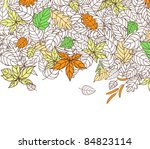 Autumn Leaves Silhouettes Background For Seasonal or Thanksgiving Design. Rasterized version also available in gallery - stock vector