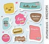 vector set of cute speech...   Shutterstock .eps vector #84823954