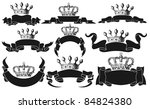 set of ribbons with crowns | Shutterstock .eps vector #84824380