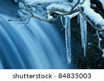 Icicle Frozen On A Branch Of A...