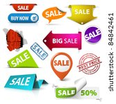 collection of colorful vector...   Shutterstock .eps vector #84842461