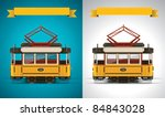 vector retro tramway icon | Shutterstock .eps vector #84843028