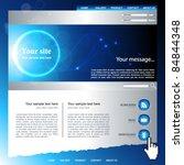 web site vector design template | Shutterstock .eps vector #84844348