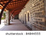 porch along the walls of the... | Shutterstock . vector #84844555
