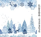 beautiful seamless blue pattern ... | Shutterstock .eps vector #84844819
