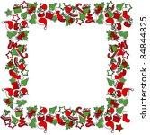 blank christmas frame with... | Shutterstock .eps vector #84844825