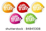 safe fruit stickers set for... | Shutterstock .eps vector #84845308