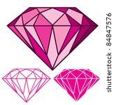 pink diamond | Shutterstock .eps vector #84847576