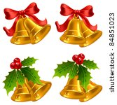 set of vector golden christmas... | Shutterstock .eps vector #84851023