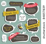cute scrapbook elements  speech ... | Shutterstock .eps vector #84857839