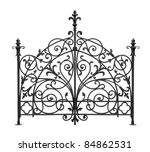 Black Forged Gates With...