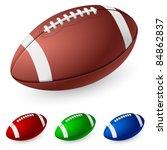 realistic american football.... | Shutterstock .eps vector #84862837