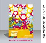 vector folder flyer design | Shutterstock .eps vector #84872449