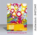 vector folder flyer design | Shutterstock .eps vector #84872449