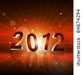 new year's background with the... | Shutterstock .eps vector #84874294