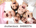 Happy Children Embracing Each...