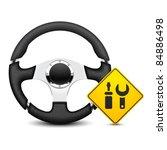 car steering wheel service icon | Shutterstock .eps vector #84886498