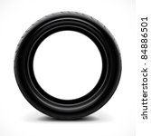 car tire | Shutterstock .eps vector #84886501