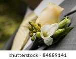 elegant and classy boutonniere...   Shutterstock . vector #84889141