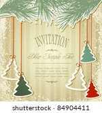 new year's holiday background... | Shutterstock .eps vector #84904411