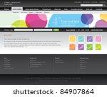 web site design template | Shutterstock .eps vector #84907864