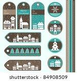 set of christmas gift tags ...