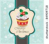 Christmas Cupcake Card 01