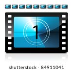 film countdown from 1 to 9 | Shutterstock .eps vector #84911041
