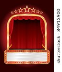 vector stage with seven stars... | Shutterstock .eps vector #84913900