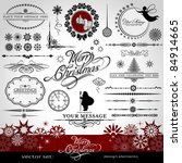 christmas and new year... | Shutterstock .eps vector #84914665