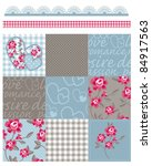 shabby chic country rose vector ... | Shutterstock .eps vector #84917563