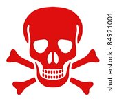 Red Skull And Bones Isolated O...