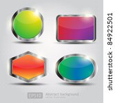 set glossy download button ... | Shutterstock .eps vector #84922501