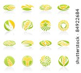 wheat and rye. elements for... | Shutterstock .eps vector #84922684