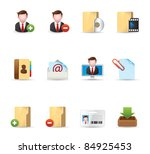 web icons   group collaboration | Shutterstock .eps vector #84925453