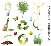 ecology protection icons set | Shutterstock .eps vector #84926422