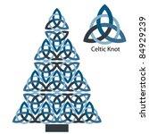 celtic knot christmas tree  ... | Shutterstock .eps vector #84929239