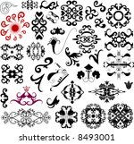 many ornament decorative... | Shutterstock . vector #8493001