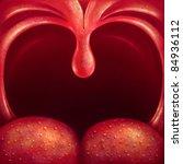 illustration uvula in the... | Shutterstock . vector #84936112