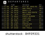 departure board   destination... | Shutterstock .eps vector #84939331
