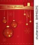 marry christmas red background... | Shutterstock .eps vector #84940291