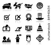 icons set election   Shutterstock .eps vector #84940654