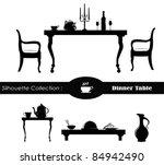 dining room vector illustration | Shutterstock .eps vector #84942490