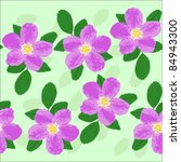 seamless flower pattern | Shutterstock .eps vector #84943300