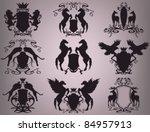 vector set of heraldic shields... | Shutterstock .eps vector #84957913