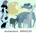 animals collection | Shutterstock .eps vector #84963154