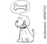 Stock vector cute dog cartoon sketch vector illustration 84967717