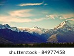 new zealand scenic mountain... | Shutterstock . vector #84977458